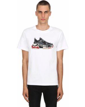 Biały t-shirt bawełniany 8-bit By Mhrs