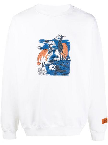 Bawełna bawełna z rękawami biały bluza Heron Preston