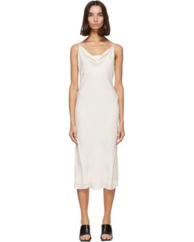 Шелковое белое платье без рукавов Kiki De Montparnasse