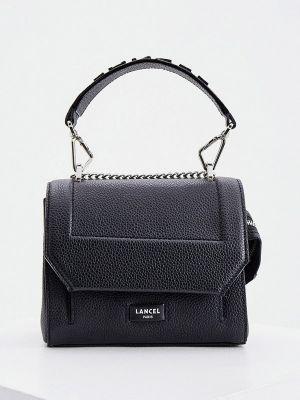 Черная итальянская сумка через плечо Lancel