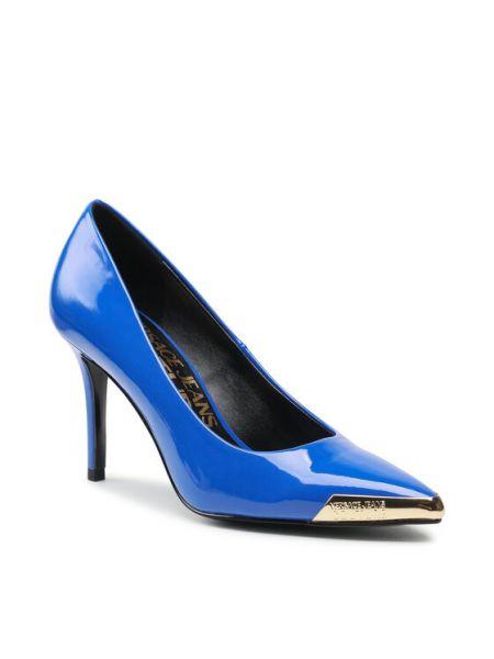 Czółenka szpilki - niebieskie Versace Jeans Couture