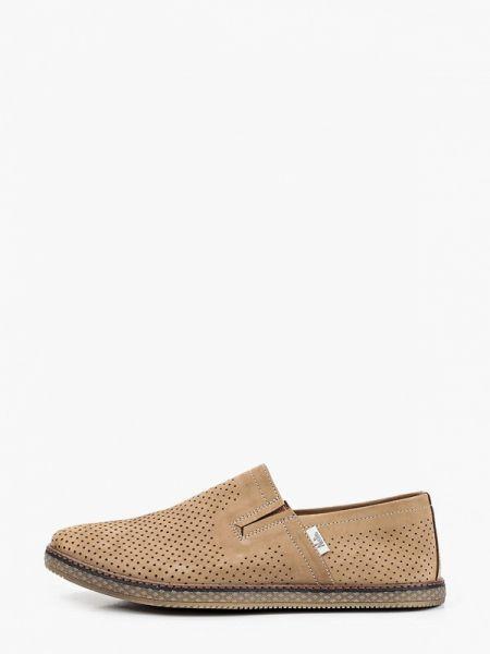 Бежевые туфли из нубука Nexpero