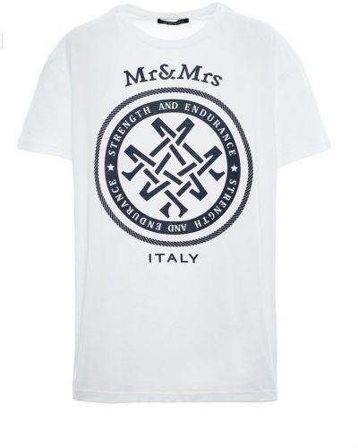 Biała t-shirt Mr&mrs Italy