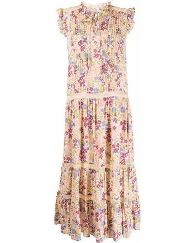 Розовое платье миди в цветочный принт We Are Kindred