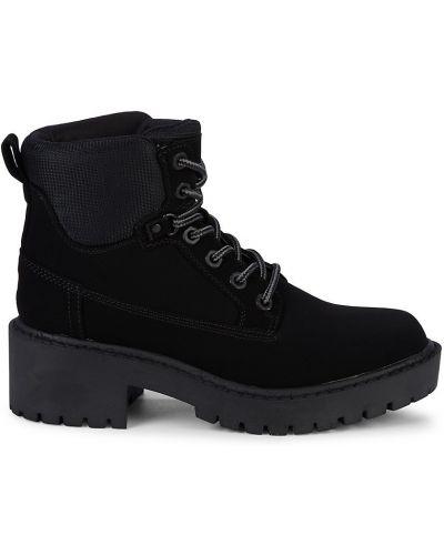 Ботильоны на каблуке - черные Kendall + Kylie