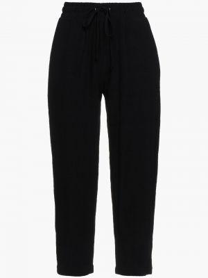 Czarne spodnie z wiskozy Walter Baker