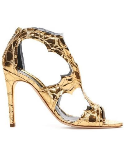 Туфли на высоком каблуке с острым носком кожаные Rupert Sanderson