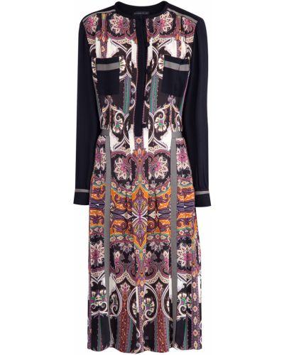 Платье миди со вставками с поясом Etro