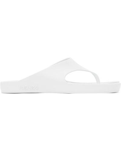 Prążkowane białe klapki Kenzo