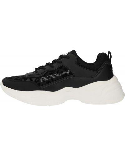Кожаные черные кроссовки на шнуровке Gsd