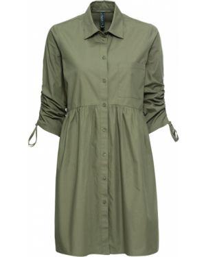 Платье на шнуровке платье-рубашка Bonprix