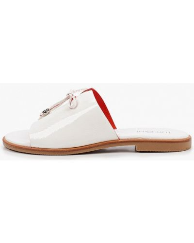 Белые лаковые кожаные сабо Tuffoni