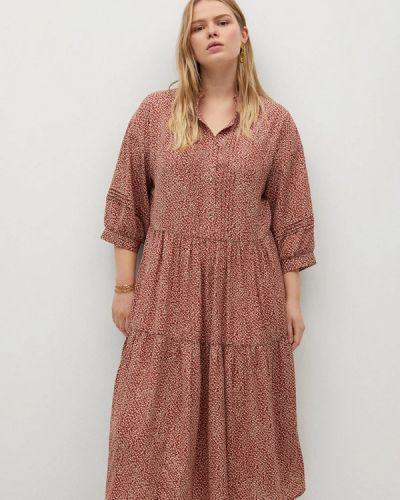 Повседневное красное платье Violeta By Mango