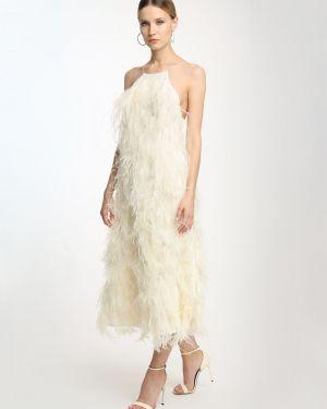 Шелковое платье миди - белое Magda Butrym
