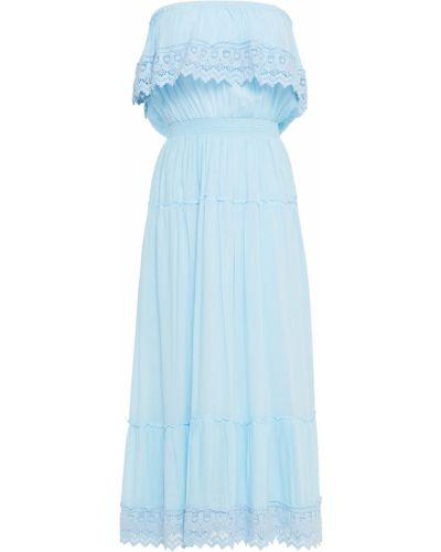 Платье миди - синее Melissa Odabash