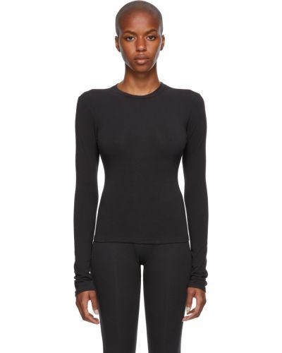 Черная хлопковая футболка Skims