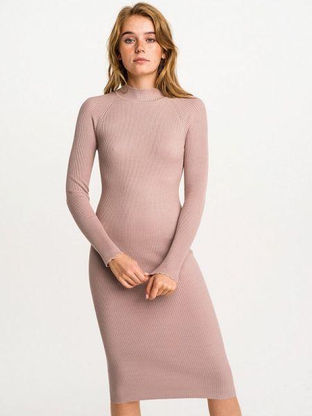 Платье вязаное розовое Befree