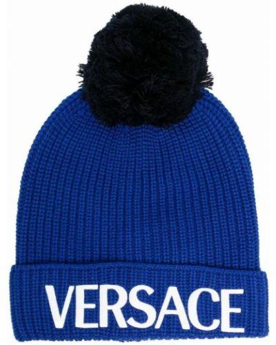 Niebieski kapelusz Versace