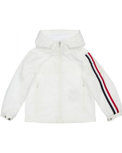 Nylon biały kurtka z kieszeniami z mankietami Moncler