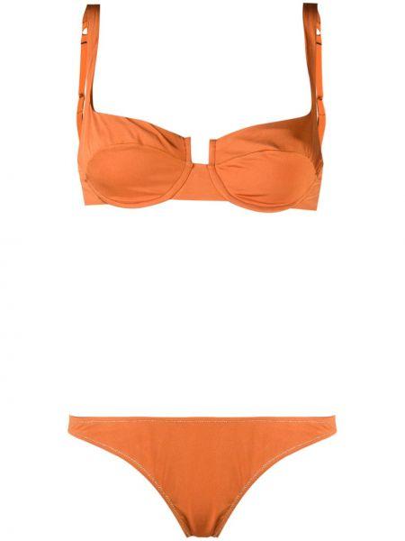 С ремешком оранжевое бюстье квадратное Reina Olga