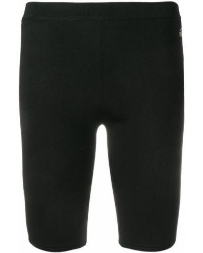 Черные спортивные шорты металлические Roberto Cavalli