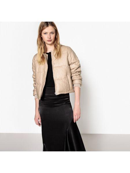 Стеганая куртка укороченная льняная La Redoute Collections