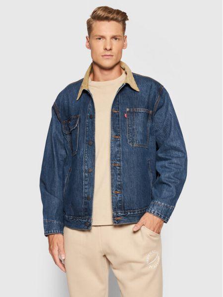 Kurtka jeansowa - granatowa Levi's