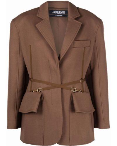 Шерстяной пиджак - коричневый Jacquemus