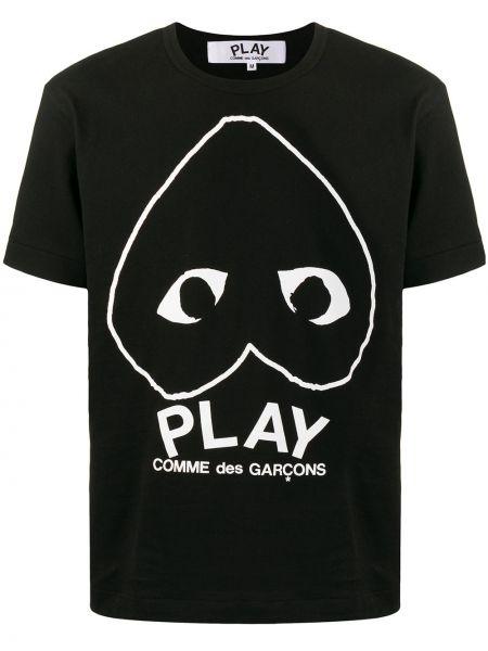 Koszula krótkie z krótkim rękawem z logo z nadrukiem Comme Des Garcons Play