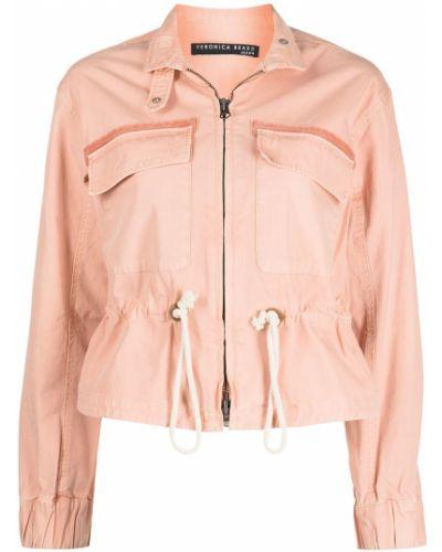 Розовая куртка на молнии с воротником Veronica Beard