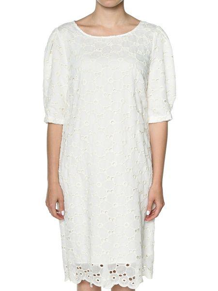Хлопковое платье - белое Rene Lezard