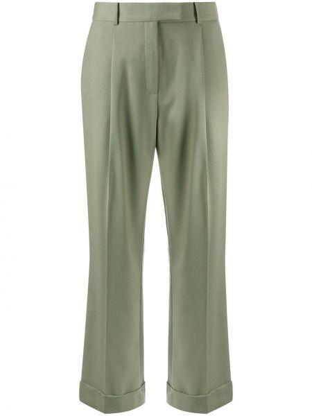 Шерстяные деловые свободные брюки свободного кроя с потайной застежкой Frenken