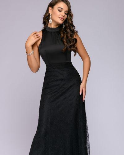 Кружевное с рукавами вечернее платье с открытой спиной 1001 Dress