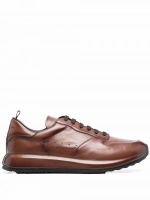 Кожаные кроссовки - коричневые Officine Creative