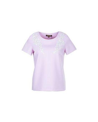 Блузка розовая из вискозы Via Torriani 88