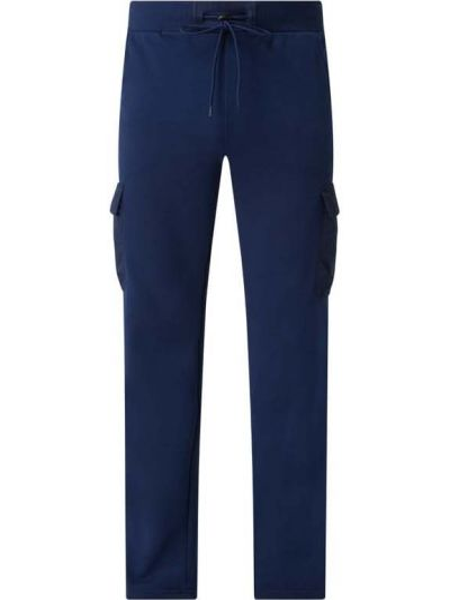 Niebieskie spodnie dresowe z nylonu miejskie Urban Classics