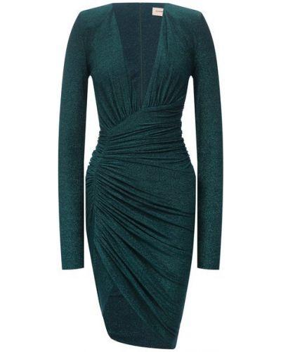Платье из вискозы - зеленое Alexandre Vauthier