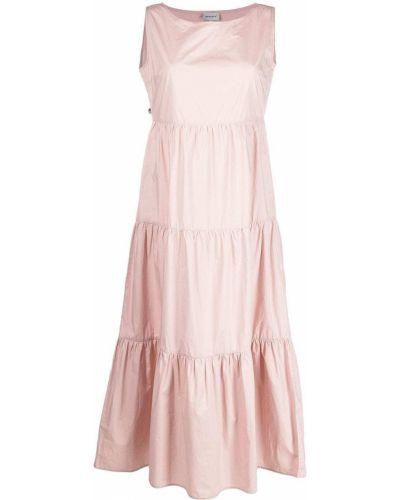 Розовое платье без рукавов с вырезом Woolrich