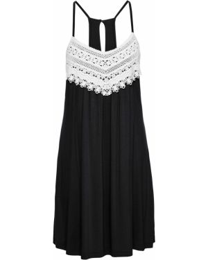 Кружевное платье - черное Bonprix