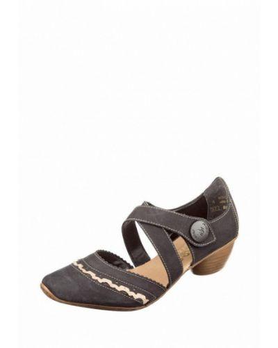 Туфли из нубука с открытой стопой Rieker