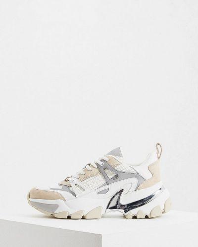 Кожаные кроссовки - белые Michael Kors
