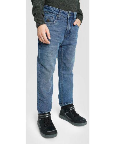 Синие прямые джинсы на молнии Ostin