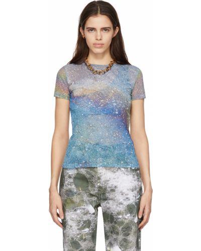 T-shirt z siateczką - niebieska Serapis