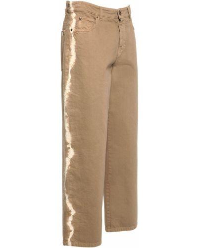 Укороченные синие джинсы с карманами Weekend Max Mara