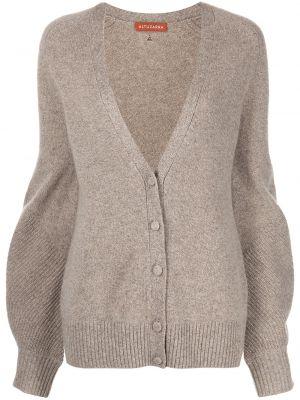 Brązowy sweter z dekoltem w serek Altuzarra