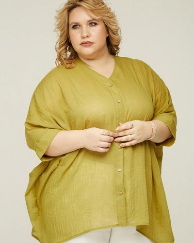 Блузка зеленый весенний Gorda Bella