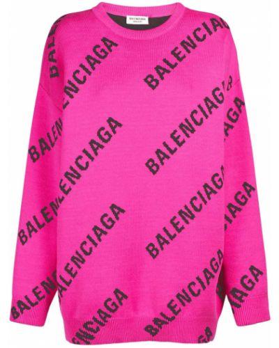 Розовая хлопковая свитер Balenciaga