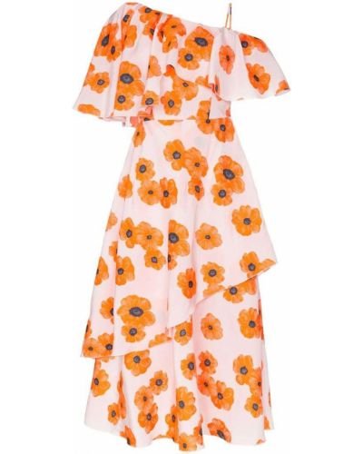 Платье розовое на одно плечо Vika Gazinskaya