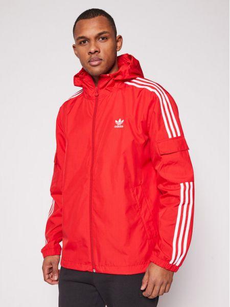 Wiatrówka - czerwona Adidas