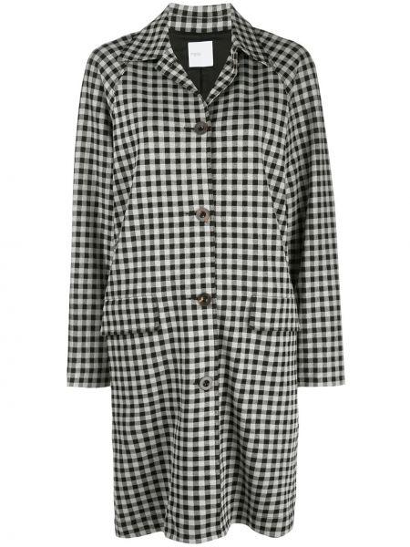 Нейлоновое однобортное пальто классическое с воротником на пуговицах Rosetta Getty